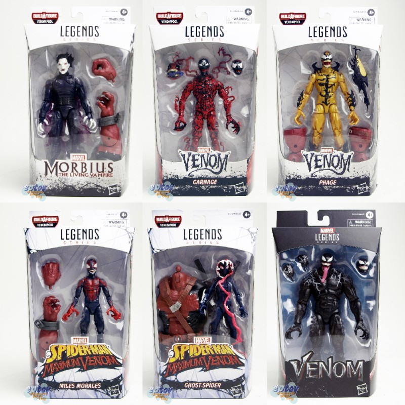 Marvel Spider-Man Maximum Venom Build a Figure BAF Venompool Series 6-inch Figures Set of 6