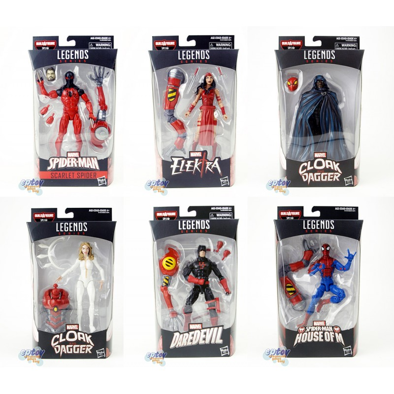 Marvel Spide-Man Infinite Build a Figure SP//dr Series 6-inch Figures Set