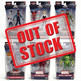 Marvel Spider-Man Into The Spider-Verse Build a Figure BAF Stilt-Man Series 6-inch Figures A set of 6