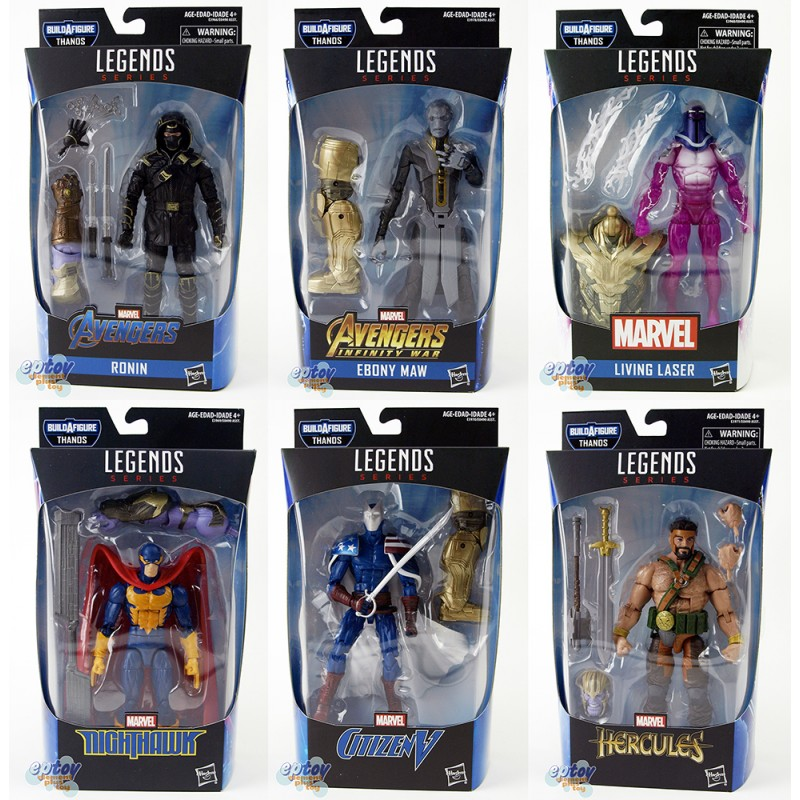 Marvel Avengers Build a Figure Thanos Series 6-inch Figures Set