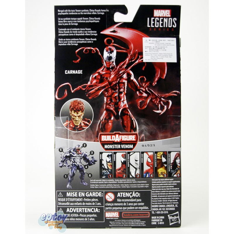 Marvel Spide-Man Build a Figure Monster Venom Series 6-inch Carnage