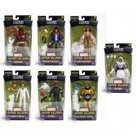 Marvel Super Villains Build a Figure BAF Xemnu Series 6-inch Figures Set