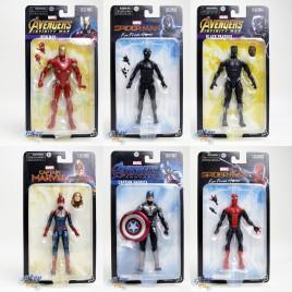 Marvel Legends International Series 6-inch Caption America Spider-Man Iron Man Black Panther Captain Marvel Set