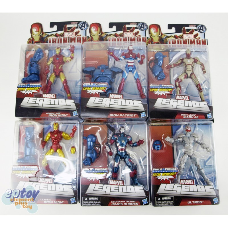 Marvel Iron Man Build a Figure Iron Monger Series 6-inch Figures Set