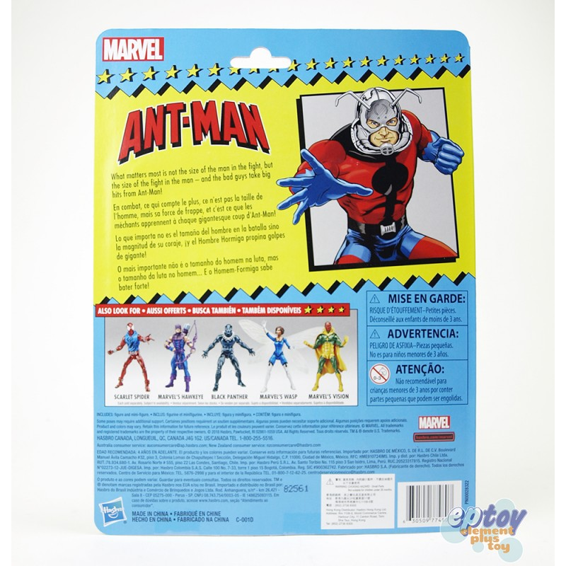 Marvel Super Heroes Vintage 6-inch Hawkeye Wasp Black Panther Ant-Man Scarlet Spider Vision Set