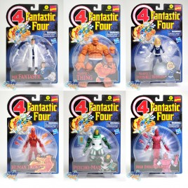 Marvel Fantastic Four Vintage 6-inch Mr.Fantastic Thing Invisible Woman Human Torch Rsycho-Man High Evolutionary Set