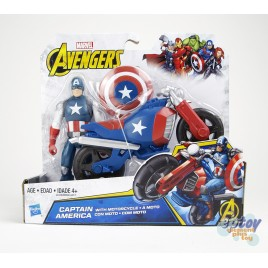 Marvel Avengers 6-inch Deluxe Captain America With Motorcycle