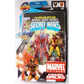 Marvel Universe Comic Packs 3.75-inch Wolverine & Human Torch