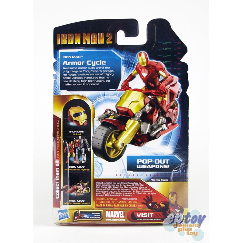 Marvel Iron Man 2 Iron Racers Armor Cycle