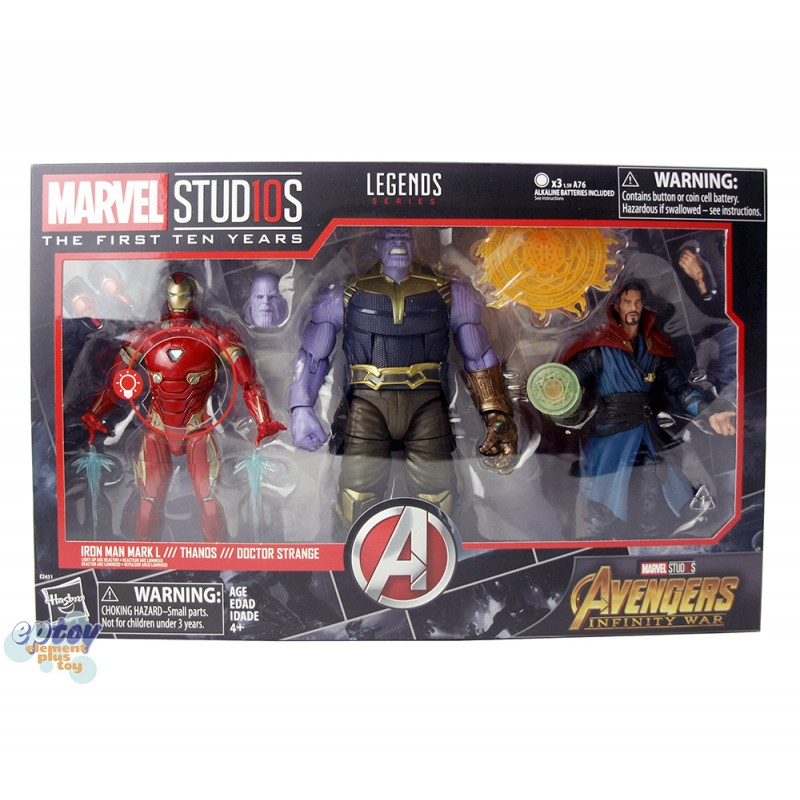 Marvel Studios The First Ten Years 6-inch Iron Man Captain America Crossbones Thands Doctor Strange Set