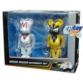 Bearbrick 100% Speed Racer Mach 5 & Racer X Set