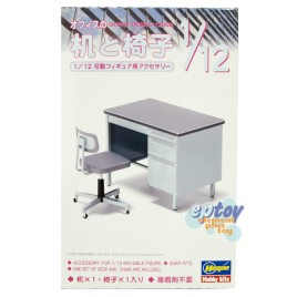 Hasegawa Office Desk & Chair Accessory for FIGMA Models Kits