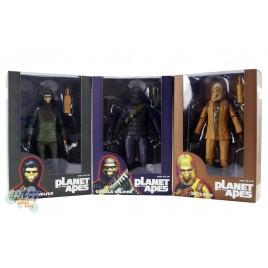 NECA Planet of the Apes Classic Series Dr.Zaius Cornelius Gorilla Soldier Figures Set