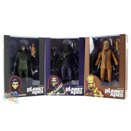 NECA Planet of the Apes Classic Series Dr.Zaius Cornelius Gorilla Soldier Figures Set