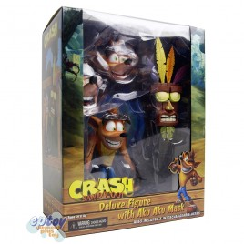 NECA Crash Bandicoot 7-inch Ultra Deluxe Crash with Aku Aku Mask