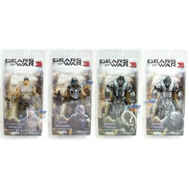 NECA Gears of War 3 Marcus COG Soldier Savage Theron Figures Set