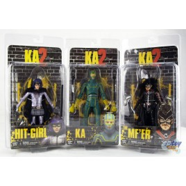 NECA Kick Ass 2 Hit-Girl KA & MF'ER Figures Set