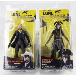 NECA The Lone Ranger 7-inch Tonto With Birdcage & Lone Ranger Unmasked