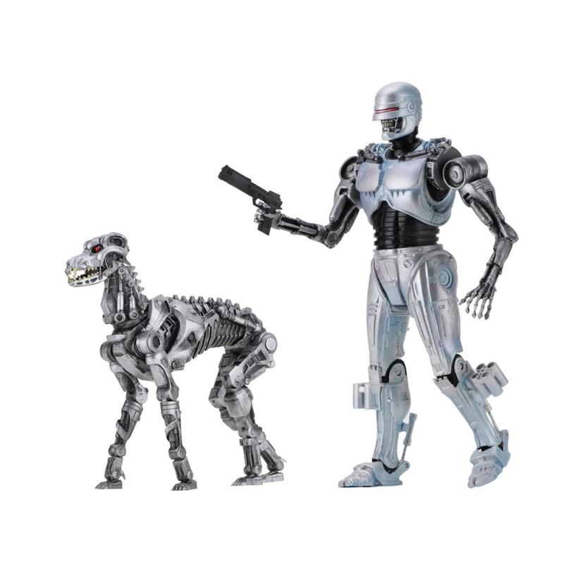 NECA RoboCop Versus Terminator 7-inch EndoCop & Terminator Dog 2-Pack