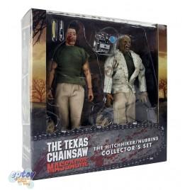NECA  Texas Chainsaw Massacre 8-inch Hitchhiker & Nubbins Collector's Set