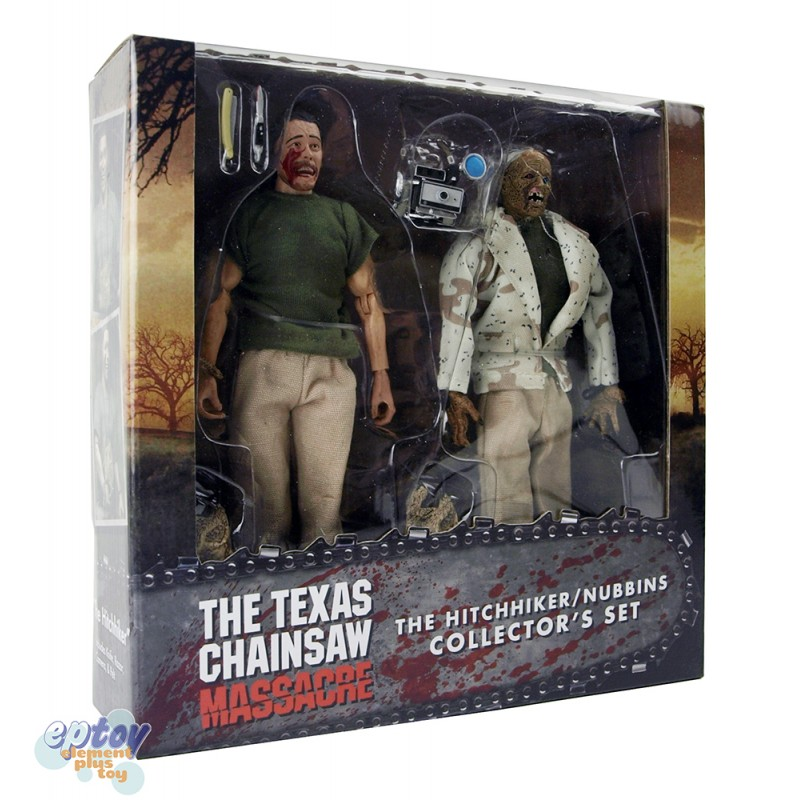 NECA  Texas Chainsaw Massacre 8-inch Hitchhiker & Nubbins Collector's Set