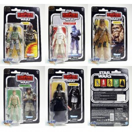 Star Wars 40th The Empire Strikes Back 6-inch Boba Fett Snowtrooper Chewbacca Luke Darth Vader Set of 5