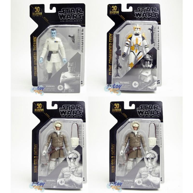 Star Wars The Black Series 6-inch Greatese Hits Han Solo Luke Clone Cody Thrawn Set of 4