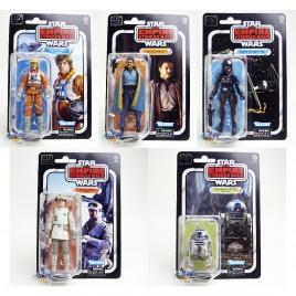 Star Wars The Empire Strikes Back 6-inch Luke R2-D2 Rebel Soldier Lando Calrissian Imperial Tie Fighter Pilot Set of 5