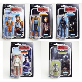 Star Wars The Empire Strikes Back 6-inch Luke R2-D2 Rebel Soldier Lando Calrissian Imperial Tie Fighter Pilot Set of 5