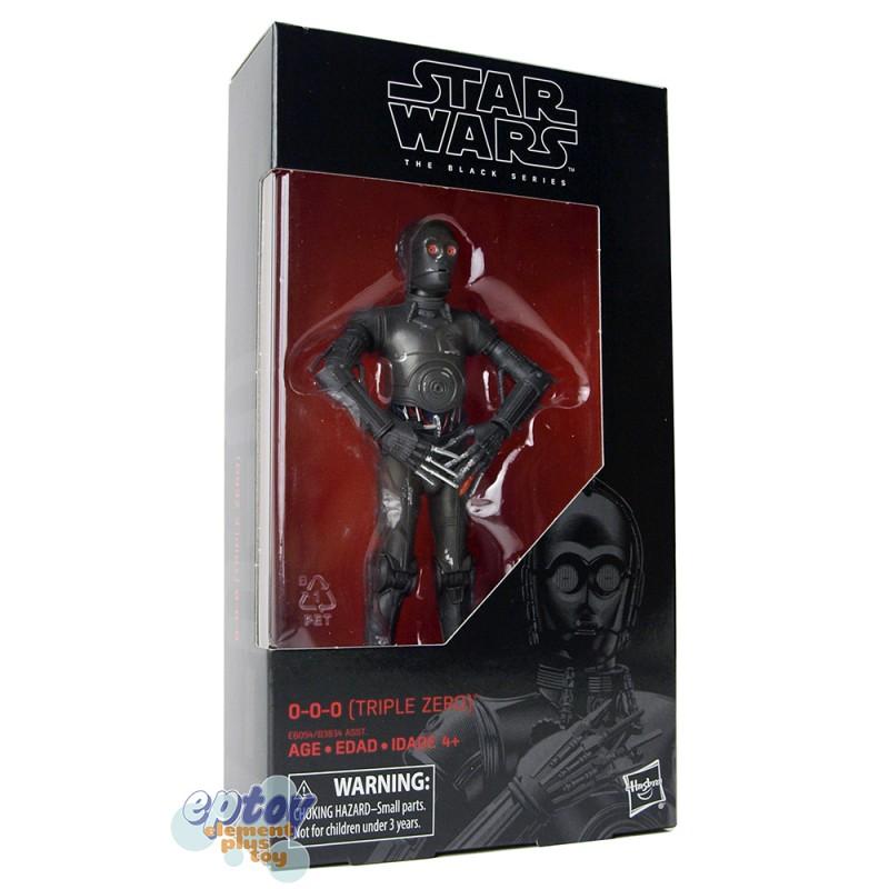 "Triple Zero 0-0-0 6/"" The Black Series Star Wars #89 Hasbro NEW Comme neuf IN BOX"