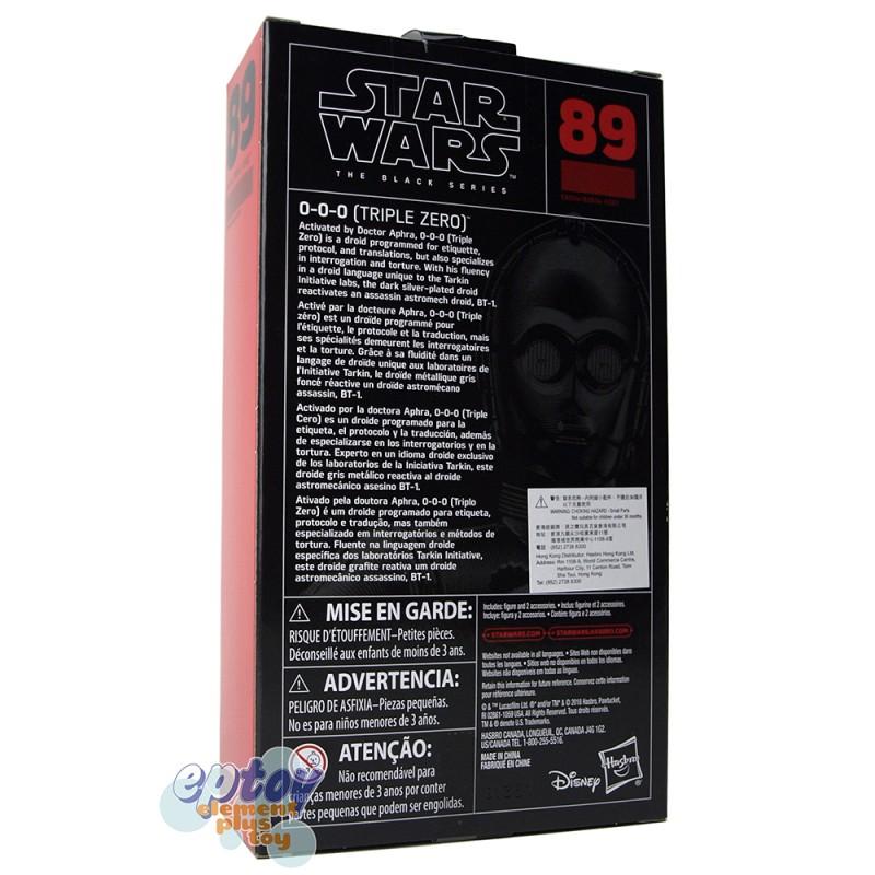 Star Wars The Black Series 6-inch #89 0-0-0 Triple Zero