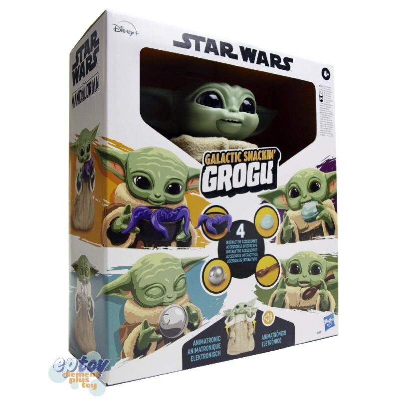 Star Wars The Mandalorian Galactic Snackin Grogu Animatronic Figure