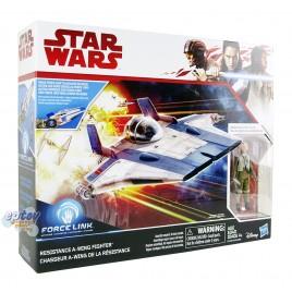 Star Wars Episode 8 Resistance Pilot Tallie & Resistance A-Wing Fighter