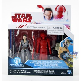 Star Wars Episode 8 3.75-inch Rey Jedi Training & Elite Praetorian Guard 2Pack
