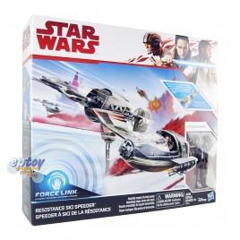 Star Wars Episode 8 Captain Poe Dameron & Resistance Ski Speeder