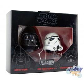Star Wars Titanium Series Helemets 03 Darth Vader & Stormtrooper